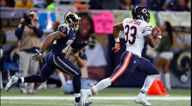 シカゴ・ベアーズ、走って走って走り抜けて期待膨らむ4勝目:NFL2015シーズン第10週