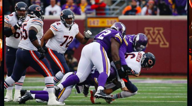 シカゴ・ベアーズ、ミネソタでボコられシーズン負け越し決定の9敗目:NFL2015シーズン第15週