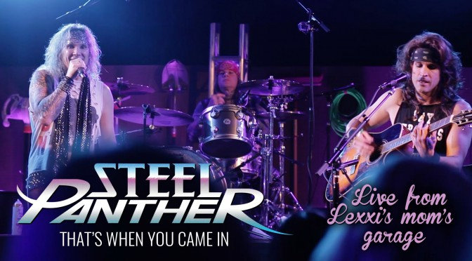 "STEEL PANTHER "" LIVE FROM LEXXI'S MOM'S GARAGE "" リリース!で全曲視聴可、ストリートパフォーマンス etc"