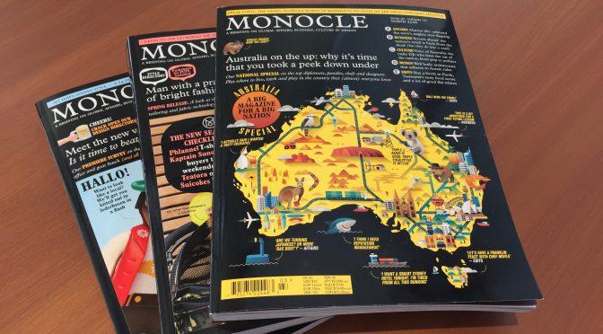オーストラリア ライフスタイル&ビジネス研究所:MONOCLE(イギリスのライフスタイル誌)