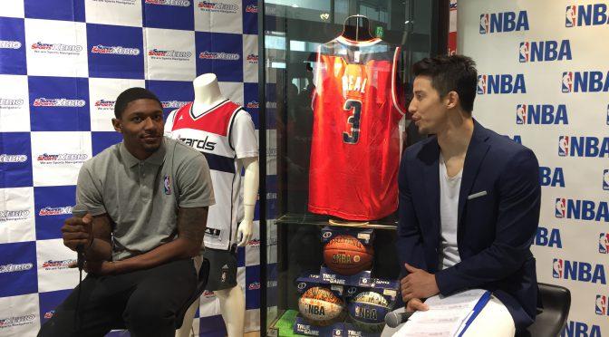 NBAのスタープレイヤー ブラッドリー・ビール選手(ワシントン・ウィザーズ)に会って、一緒に写真を撮ってきた