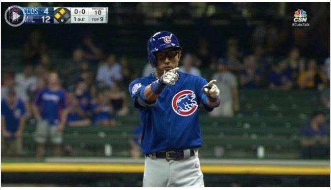 川崎宗則選手、シカゴ・カブス昇格でさっそく挨拶代わりの一撃!& 投げキッスのパフォーマンス付