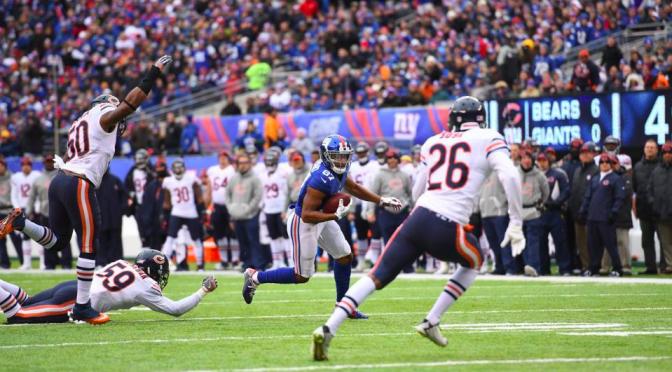 シカゴ・ベアーズ、ニューヨークの寒さしみるシーズン8敗目:NFL 2016シーズン 第11週
