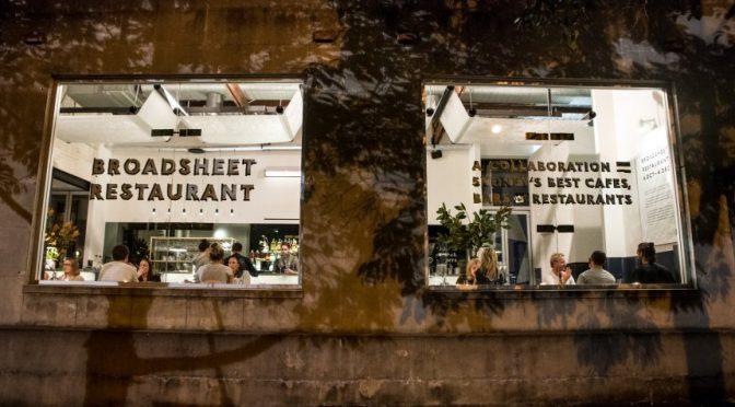 オーストラリア ライフスタイル&ビジネス研究所:大好評を博した期間限定で有名店を集結させたブロードシート・レストラン ①