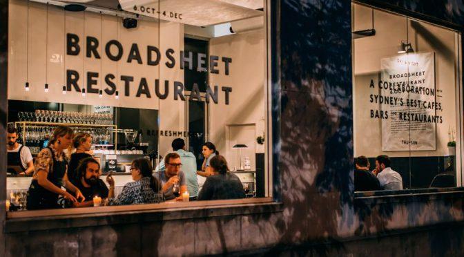 オーストラリア ライフスタイル&ビジネス研究所:大好評を博した期間限定で有名店を集結させたブロードシート・レストラン ②