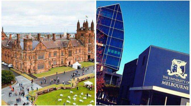オーストラリア ライフスタイル&ビジネス研究所:就職に強い世界の大学ランキング( #4 シドニー大学、#11 メルボルン大学)