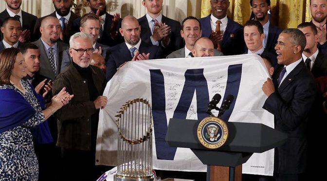 シカゴ・カブス、ホワイトハウスを表敬訪問。退任間近のオバマ大統領はユーモアで歓迎