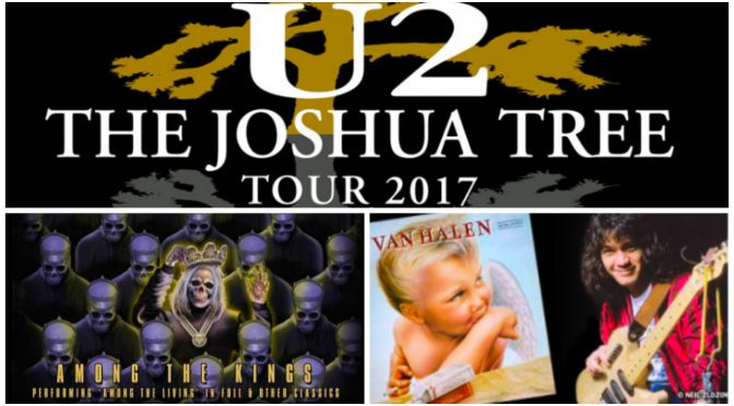 U2 Joshua Tree 特別公演はじめロック界30周年記念全盛で、2017年の注目は1987年!それでも、やっぱり・・