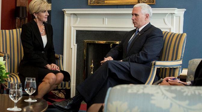 オーストラリア ライフスタイル&ビジネス研究所:ビショップ外相、ペンス米副大統領とホワイトハウスで会談