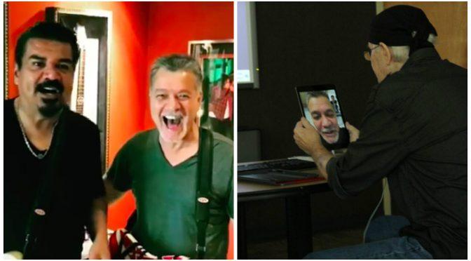 Eddie Van Halen、George LopezとのEVH 5150III® LBXII ampのPRに、末期ガンのファンの願いを叶えるFaceTime通話を実現