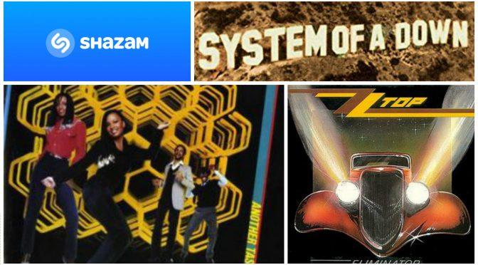 街中で音楽認識アプリSHAZAMを大活躍させてみた(SYSTEM OF A DOWN, ZZ TOP, A TASTE OF HONEY)