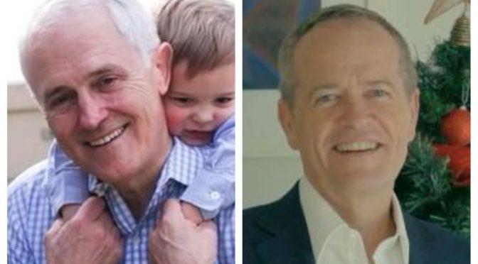 オーストラリア ライフスタイル&ビジネス研究所:マルコム・ターンブル首相とビル・ショーテン労働党党首のクリスマスメッセージ
