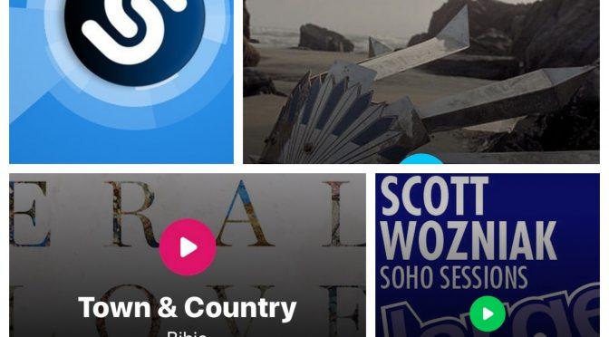 街中で音楽認識アプリShazamを稼働させ、Jamiroquai, Bibio, Scott Wozniakのデータにアクセス、曲を改めて楽しめた♪ (Shazam #4)