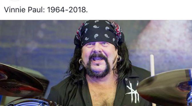 追悼 Vinnie Paul。悲しいけど、弟(Dimebag Darrell)と再会の時を心ゆくまで