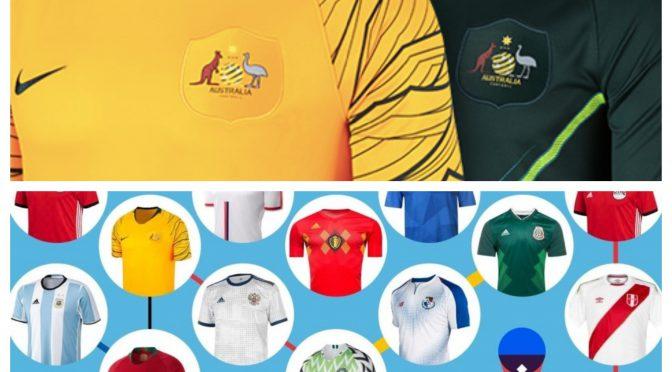 オーストラリア ライフスタイル&ビジネス研究所:Socceroos、2018 FIFA ワールドカップ「ユニフォームランキング」で3位にランキング