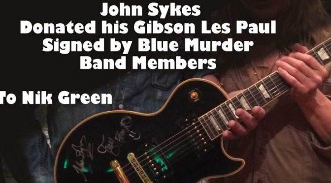 BLUE MURDERを支えたNik GreenのためにJohn Sykesも立ち上がり、Gibson Les Paulをオークションへ寄贈
