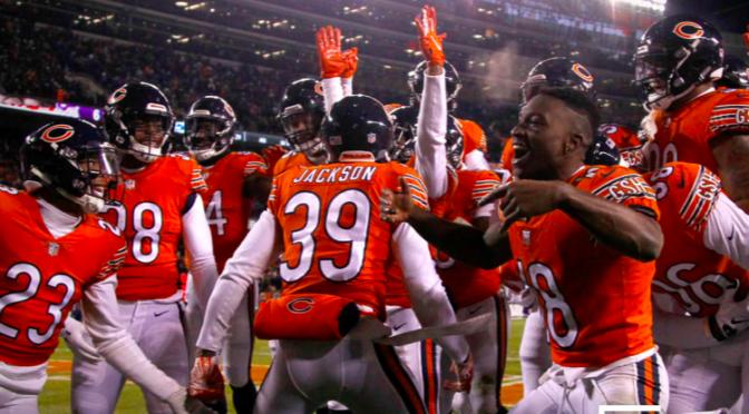 シカゴ・ベアーズ、地区首位をひた走る4連勝で7勝目:NFL 2018シーズン 第11週