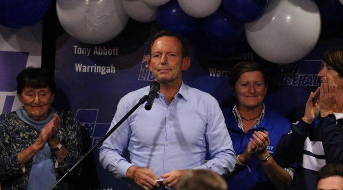 オーストラリア ライフスタイル&ビジネス研究所:トニー・アボット元首相、総選挙で落選