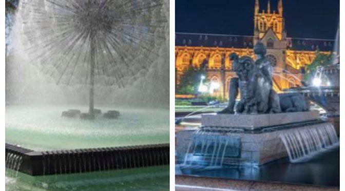 オーストラリア ライフスタイル&ビジネス研究所:世界のスゴい噴水50選(エル・アラメインの噴水、アーチボルドの噴水)