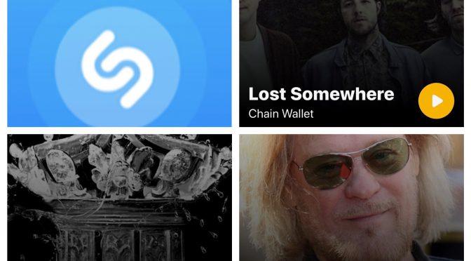 街中で音楽認識アプリShazamを稼働させ、Chain Wallet,  Virginiana Miller & Daryl Hall のデータにアクセス、曲を改めて楽しめた♪ (SHAZAM #14)
