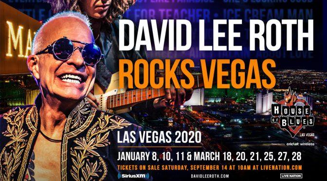 David Lee Roth、2020年1月/3月 ROCKS VEGAS 9公演を発表!