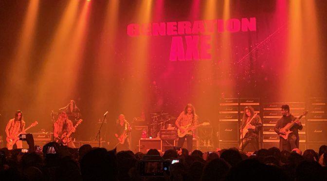 GENERATION AXE で、Yngwie Malmsteen、Steve Vai、Zakk Wylde、Nuno Bettencourt、Tosin Abasi のギタープレイに圧倒されてきた