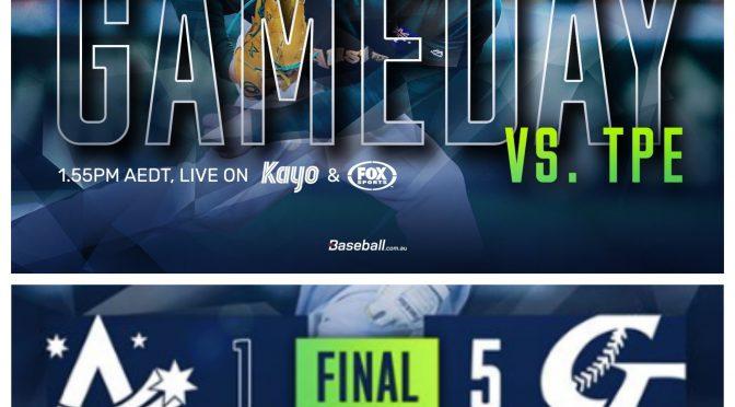 オーストラリア ライフスタイル&ビジネス研究所:プレミア12  オーストラリア代表、3位決定戦進出ならず6位で終戦