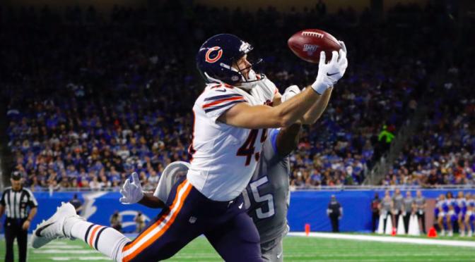 シカゴ・ベアーズ、デトロイトでの感謝祭ゲームを制し、勝率.500復帰:NFL 2019シーズン 第13週