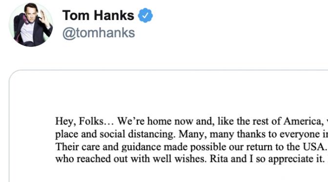 オーストラリア ライフスタイル & ビジネス研究所:トム・ハンクス夫妻 ロサンゼルスに帰宅