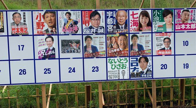 いろいろと今ひとつの感否めなかった 2020年 東京都知事選挙体感記