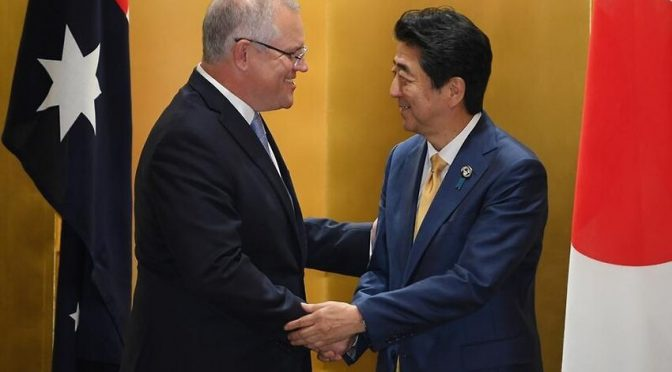 オーストラリア ライフスタイル&ビジネス研究所:「真の友人に感謝」スコット・モリソン首相、安倍晋三首相を称賛