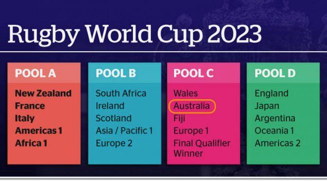 オーストラリア ライフスタイル&ビジネス研究所:ワラビーズ、ラグビーワールドカップ2023でウェールズ、フィジー等と同組