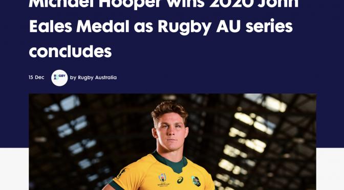 オーストラリア ライフスタイル&ビジネス研究所:マイケル・フーパー 2020年最優秀選手、3度目ジョン・イールズメダル受賞