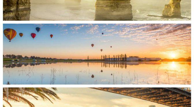 オーストラリア ライフスタイル&ビジネス研究所:新たな1日の始まり!幻想的に輝く世界の朝風景 18選(ザ・トゥエルブ・アポストルズ、ハンターバレー 熱気球、ハーバーブリッジとオペラハウス)