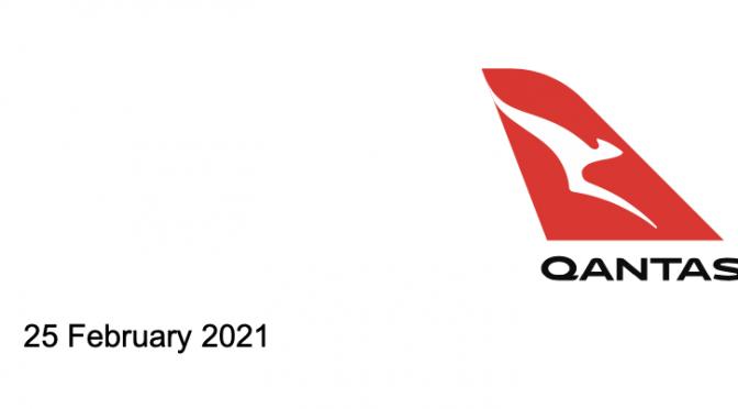 オーストラリア ライフスタイル&ビジネス研究所:カンタス、2020年7-12月期 出入国規制響き赤字900億円