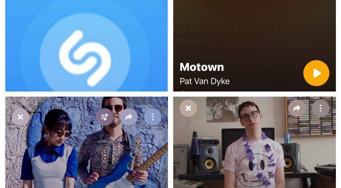 街中で音楽認識アプリSHAZAMを稼働させ MOMOCURLY, Jerry Paper & PAT VAN DYKE のデータにアクセスして曲を改めて楽しめた♪(SHAZAM #44)