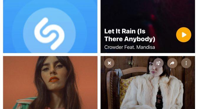 街中で音楽認識アプリSHAZAMを稼働させ Hazel English, Crowder feat. Mandisa & Jessica Lea Mayfield のデータにアクセスして曲を改めて楽しめた♪(SHAZAM #48)