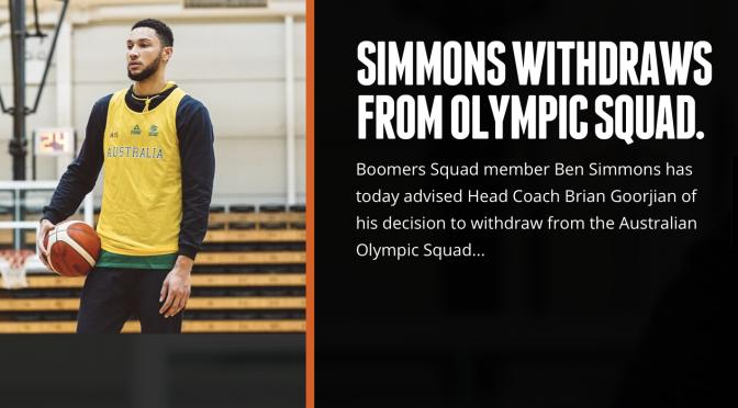 オーストラリア ライフスタイル&ビジネス研究所:76ers ベン・シモンズ選手、Boomers:オーストラリア代表での東京オリンピック参加辞退