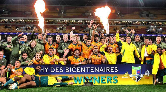 オーストラリア ライフスタイル&ビジネス研究所:ワラビーズ、フランス代表に辛勝。シリーズ2勝1敗で終える