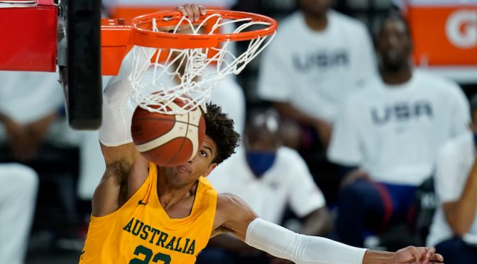 オーストラリア ライフスタイル&ビジネス研究所:Boomers、東京オリンピック直前の強化試合でアメリカ代表を下す
