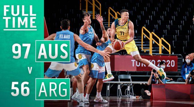オーストラリア ライフスタイル&ビジネス研究所:Boomers、アルゼンチン代表に快勝し2大会連続で準決勝進出(東京オリンピック)