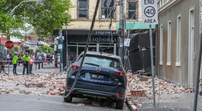 オーストラリア ライフスタイル&ビジネス研究所:メルボルン近くでM5.9の地震、建物に被害